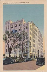 Massachusetts Worcester Telephone Building 1945
