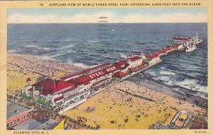 New Jersey Atlantic City Airplane View Of World Famed Steel Pier Extending 2,...