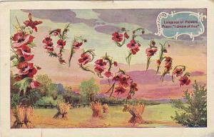 Language of Flowers Poppy: I dream of thee, PU-1969