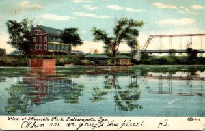 Indiana Indianapolis View At Riverside Park 1908