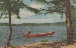 CROSSLAKE, Minnesota, 1930-1940s ; Canoeing Scene