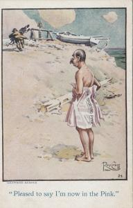 Hobo Comic , 1900-10s ; Pleased to say I'm now in the Pink. , Artist Roy CROSS