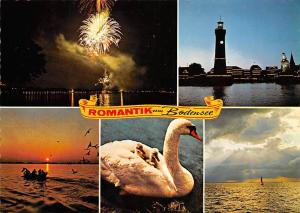 Romantik am Bodensee Leuchtturm Lighthouse Fireworks Birds Sunset