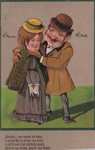 Love Poem, Man flirting with shy lady, 1900-10s