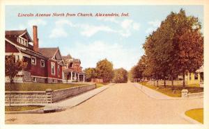 Alexandria Indiana~Lincoln Avenue Homes~North @ Church~Baking Co Adv~1950s PC