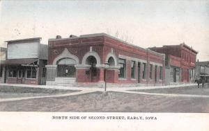 Early Iowa North Side Of Second Street Antique Postcard K54689