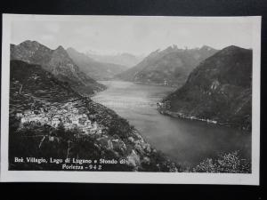 Switzerland: BRE VILLAGIO, LAGO DI LUGANO - Old Real Photograph Postcard