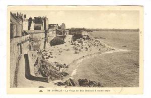 La Plage De Bon Secours A Maree Haute, St-Malo (Ille-et-Vilaine), France, 190...