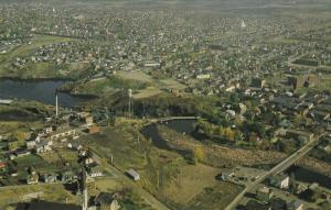 Aerial View of Jonquiere, Quebec, Canada, 40-60s