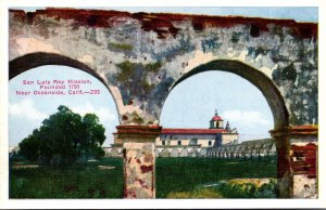 California San Luis Rey Mission Founded 1793 Near Oceanside