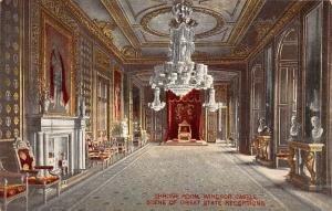 Throne Room, Windsor Castle Scene of Great State Receptions