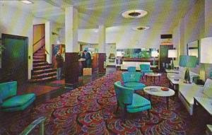 California San Francisco Golden State Hotel Lobby 1963