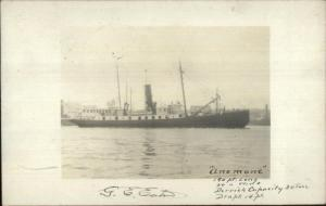 Tender Lighthouse Ship Lightship Anemone Woods Hole MA Signed  Captain RP