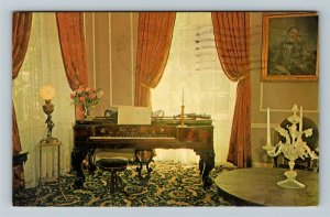 Bardstown KY-Kentucky, My Old Kentucky Home Parlor Room, Chrome c1965 Postcard