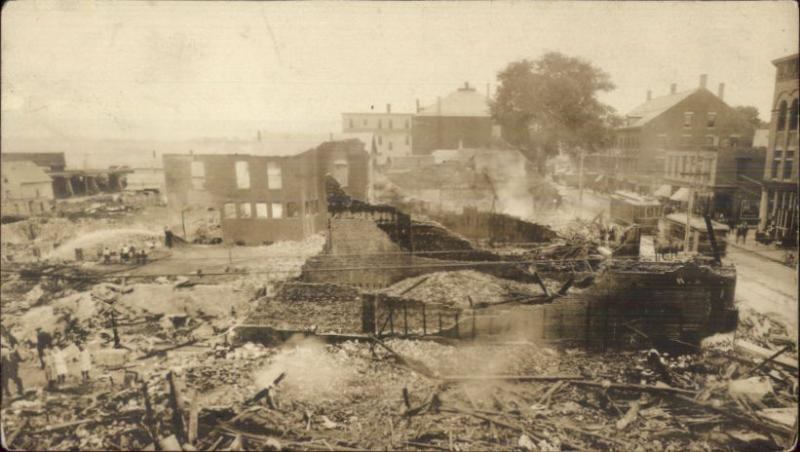 Rockland ME Disaster Fire Scene c1910 Real Photo Postcard