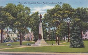 World War Memorial Victory Park Manchester New Hampshire