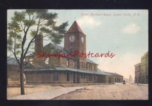 GRAND FORKS NORTH DAKOTA GREAT NORTHERN RAILROAD DEPOT OLD