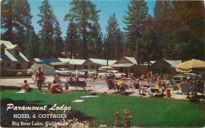 Big Bear Lake California 1950s Paramount Lodge Roadside Roberts pool 10620