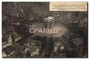 Old Postcard Aviation Zeppelin Airship Scout Conte Panorama towards the distr...