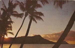 Hawaii Rising Sun Over Diamond Head 1965