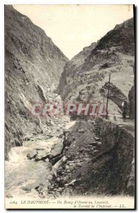 Old Postcard The Dauphine from Bourg d'Oisans to the Lautaret Torrent Infernet