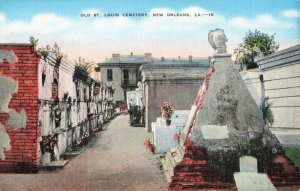 Postcard Old St Louis Cemetery New Orleans Louisiana