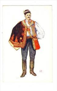 Croatian National wear, Peasant from Sestine near Zagreb, Croatia, 1920