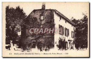 Postcard Old Millane Bouches du Rhone House Poet Mistral