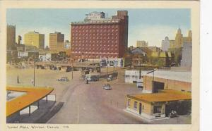 Tunnel Plaza, Showing Prince Edward Hotel, Windsor, Ontario, Canada, PU-1947