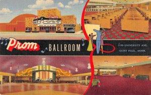 St Paul Minnesota Prom Ballroom Exterior Interior View Postcard JI658549