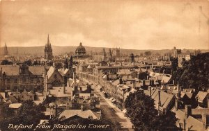 Oxford from Magdalen Tower Panorama Postcard