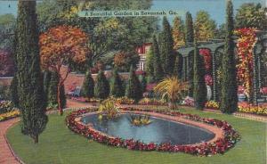A Beautiful Garden In Savannah Georgia