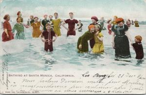 Bathing at Santa Monica CA California c1903 Rieder Postcard E50