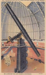 LAKE GENEVA, Telescope with 40inch lens, Second Largest In The World, Wiscons...