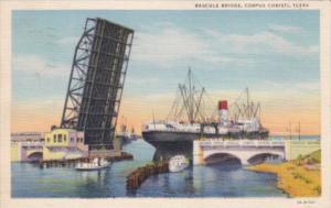 Texas Corpus Christi The Bascule Bridge 1940 Curteich