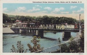 International Bridge between Calais, Maine and St. Stephen, New Brunswick, Ca...