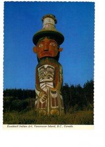 Kwakiutl Art Totem Poles, Alert Bay, British Columbia