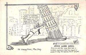 Military Comic Postcard, Old Vintage Antique Post Card Artist Ayres, USN 1918...