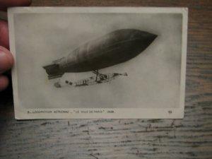 Aviation Postcard Used France French Dirigible 1908 Le Ville De Paris