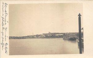 G42/ Foreign RPPC Postcard Silistra Bulgaria Ships Homes Coastline c1910