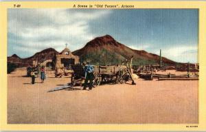 A Scene in Old Town, Tucson Mountain Park, Arizona Z20