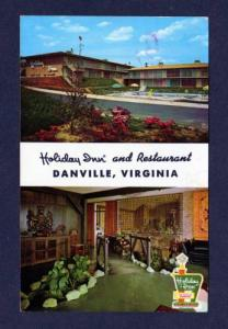 VA Holiday Inn Hotel Motel DANVILLE VIRGINIA POSTCARD