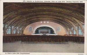 Ohio Lakeside Interior Of Auditorium Ohio On Lake Erie 1949 Albertype