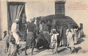 Djibouti Scene d'un Mariage Somalis, Fiancee Mari, solemn entrance