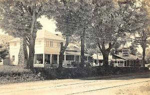 Schroon Lake NY Drake's Ducky Rooms & Cabins real photo postcard.