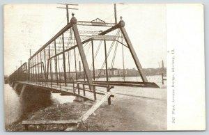 Sterling Illinois~First Avenue Thru Truss Bridge~$5 Fine Sign~Papa Walked~1908