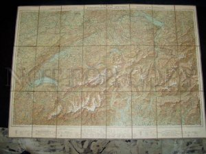 090287 Vintage MAP of SWITZERLAND by Kummerly & Frey