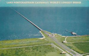 Lake Pontchartrain Causeway , World´s Largest Bridge , Louisiana , 40-60s
