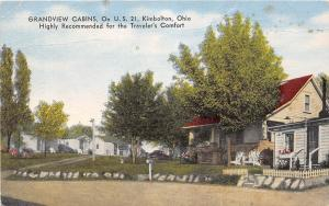 Ohio Postcard Linen KIMBOLTON Grandview Cabins Roadside US21