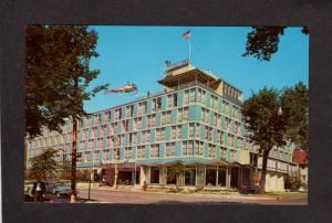 WI Milwaukee Inn Hotel Postcard Wisconsin Helicopter Lake Michigan Carte Postale